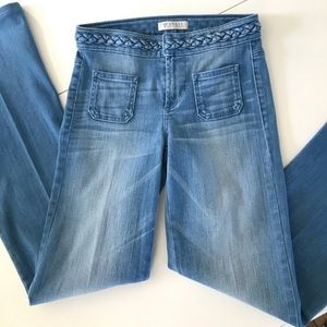 Guess Flare Jeans with Braided waist size 25 👖